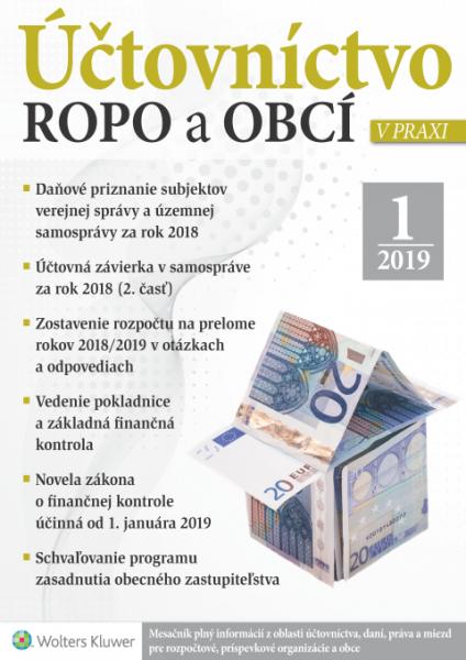 Účtovníctvo ROPO a obcí v praxi