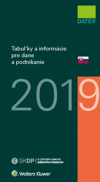 Tabuľky a informácie pre dane a podnikanie 2019