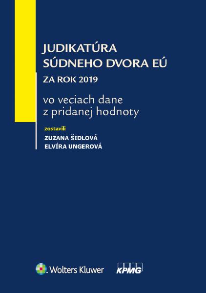 Judikatúra Súdneho dvora EÚ za rok 2019 vo veciach dane z pridanej hodnoty