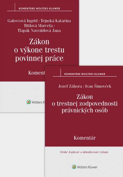 Balíček: Komentár k zákonu o trestnej zodpovednosti právnických osôb, 2. vydanie a Komentár k zákonu o výkone trestu povinnej práce.