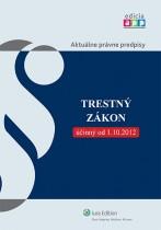 Trestný zákon účinný k 1.10.2012