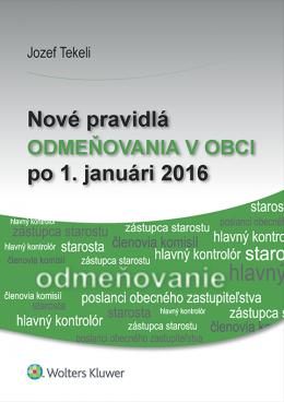 Nové pravidlá odmeňovania v obci po 1. januári 2016
