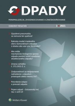 Odpady - minimalizácia, zhodnocovanie a zneškodňovanie